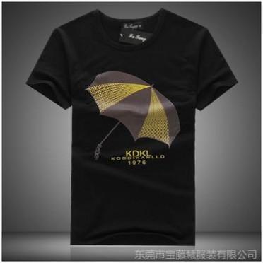 男士短袖T恤 潮純棉印花T恤衣服 夏裝打底衫 2014半袖批發