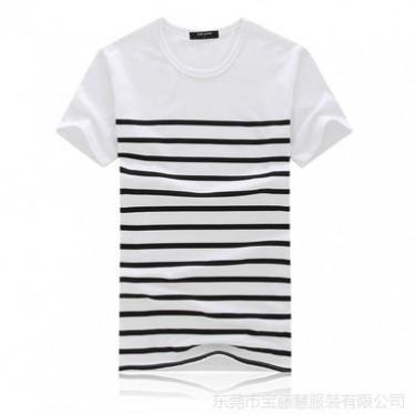2014春夏新款短袖t恤時尚圓領男士T恤韓版緊身印花批發