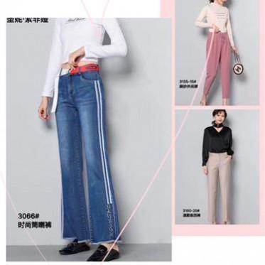 秋季新款 高腰牛仔長褲 牛仔女褲 顯瘦牛仔褲 一手貨源