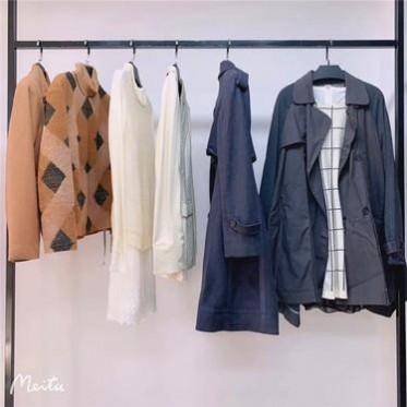 女士時尚百搭大衣外套 短款拼接外套上衣 女士短款加厚外套 女裝批發
