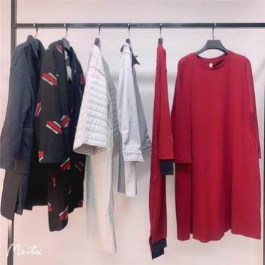 冬裝新款短款毛衣上衣 女士連衣裙 寬松大碼連衣裙 沈陽品牌折扣批發 庫存尾貨