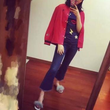 2016运动复古休闲女款夹克衫棒球服外套