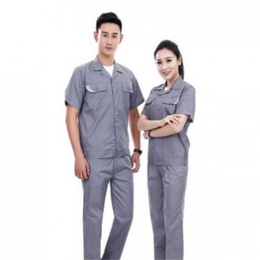厂家定做夏季工装工作服企业厂服短袖系列