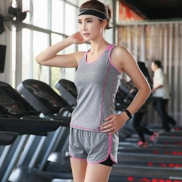 工廠現貨 歐美修身t恤女士運動速干背心 吊帶瑜伽健身服 訓練跑步