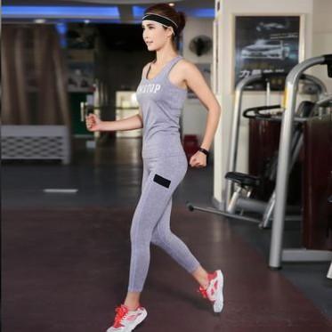 愛暇步顯瘦秋冬瑜伽服套裝女莫代爾健身房運動服無袖瑜珈舞蹈瑜伽