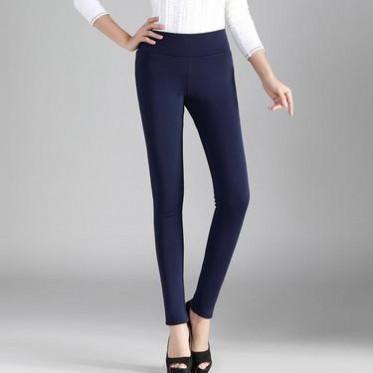冬季新款韓版大碼女裝黃金絨加厚鉛筆小腳褲外穿女士打底褲批發