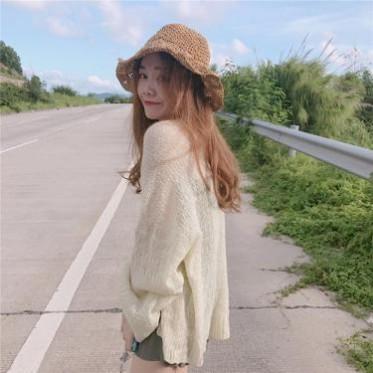 批发复古chic风慵懒宽松薄款长袖针织衫夏季百搭显瘦防晒衣开衫女