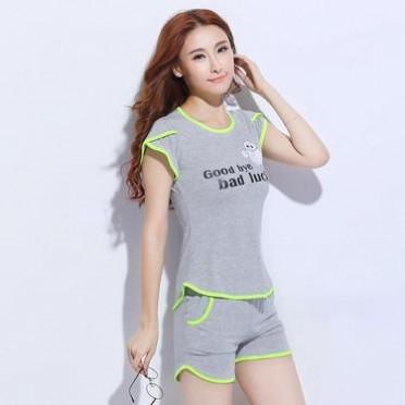 休闲运动套装女款夏季2016简约时尚跑步T恤短裤运动服运动装